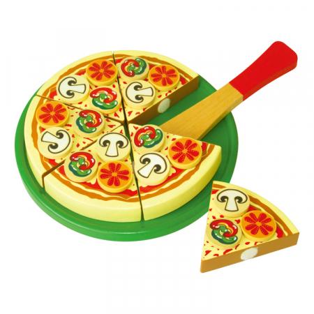 Jucarie pizza si tort din lemn [3]
