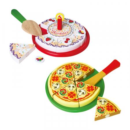 Jucarie pizza si tort din lemn [0]