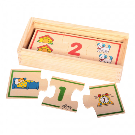 Jucarie educativa puzzle de asociere - invatam numerele [1]
