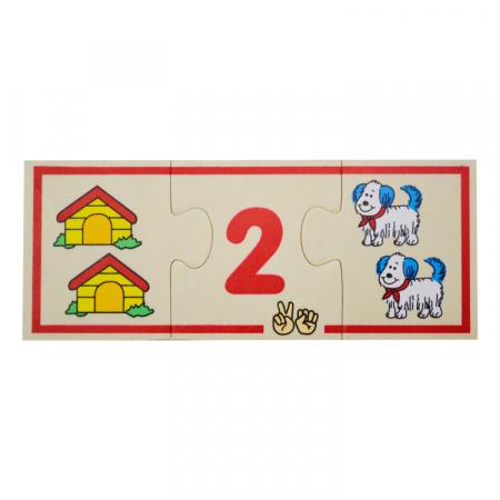 Jucarie educativa puzzle de asociere - invatam numerele [3]