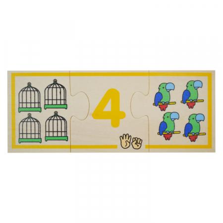Jucarie educativa puzzle de asociere - invatam numerele [5]
