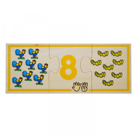 Jucarie educativa puzzle de asociere - invatam numerele [9]
