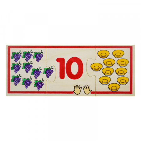 Jucarie educativa puzzle de asociere - invatam numerele [11]