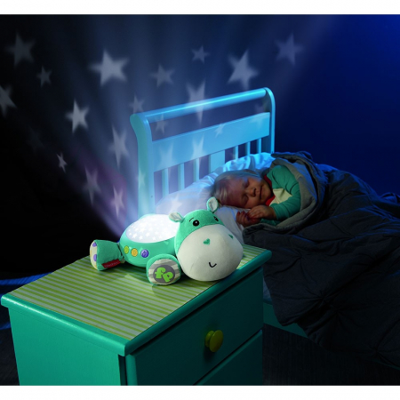 Lampa de veghe plus Newborn Hipopotam  albastru Fisher Price [2]