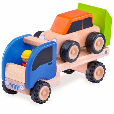 Minitrailer din lemn cu masinuta [0]