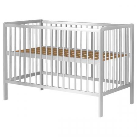 Patut copii din lemn Dominic 120x60 cm alb [0]
