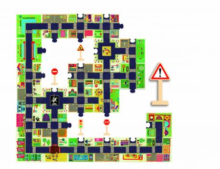 Puzzle gigant 24 piese Djeco - Orasul [1]