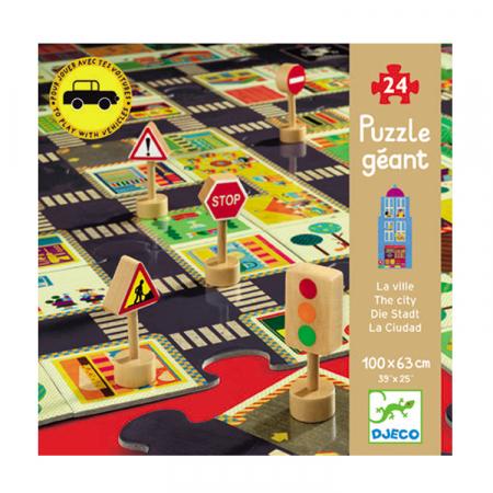 Puzzle gigant 24 piese Djeco - Orasul [0]