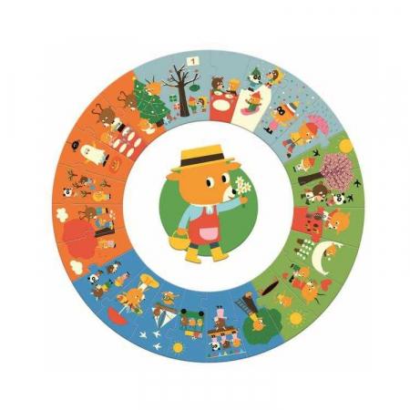 Puzzle gigant circular 24 piese Djeco, anotimpurile [0]