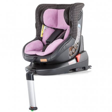 Scaun auto Chipolino Toledo 0-18 kg rose cu sistem Isofix si sezut rotativ [1]