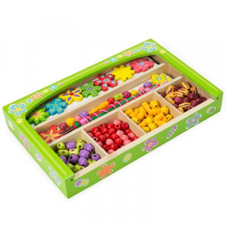 Set creativ de confectionat bijuterii din lemn in cutie [0]