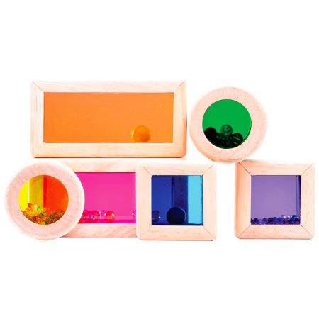 Set cuburi de construcţie zornăitoare colorate [2]
