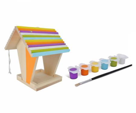 Set de colorat din lemn hranitor pentru pasari [0]