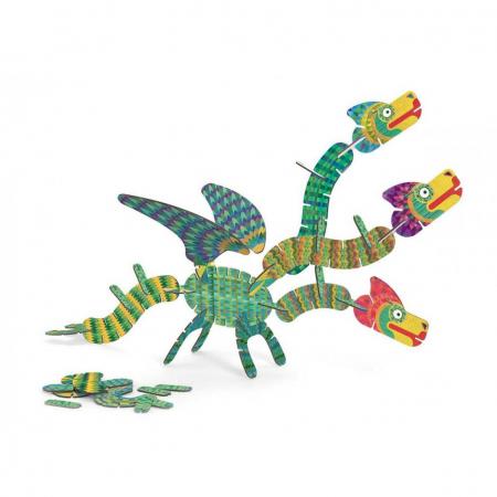 Set de construit creativ Volubo dragoni, Djeco [1]
