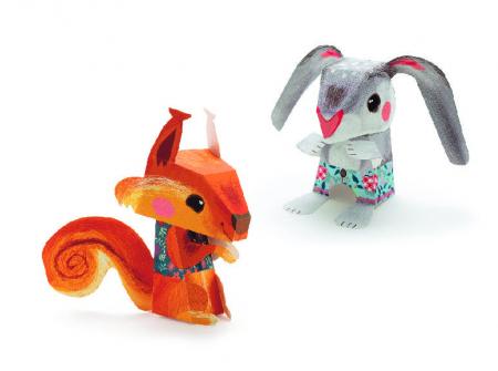 Set DIY creaza animale din hartie Djeco [1]
