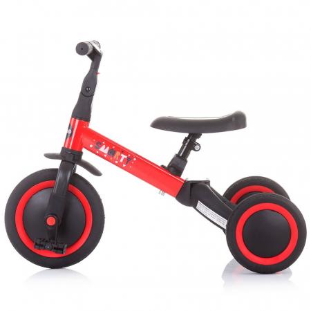 Tricicleta si Bicicleta 2 in 1 Smarty Chipolino Red [4]