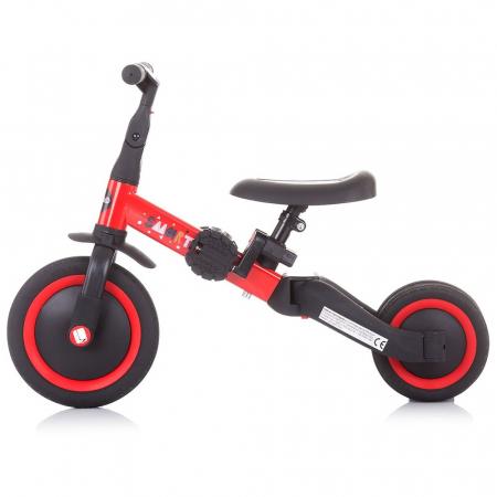 Tricicleta si Bicicleta 2 in 1 Smarty Chipolino Red [2]