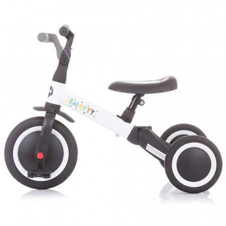 Tricicleta si Bicicleta 2 in 1 Smarty Chipolino White [5]