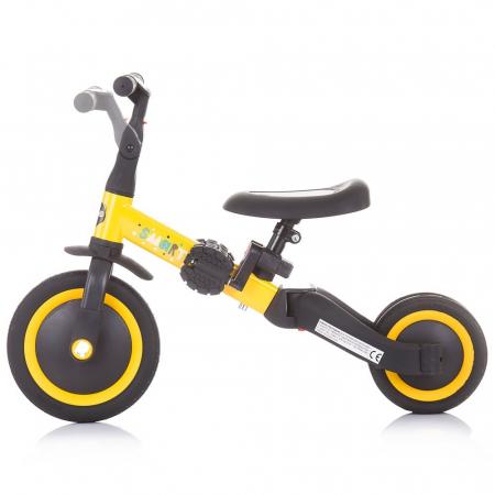 Tricicleta si Bicicleta 2 in 1 Smarty Chipolino Yellow [2]