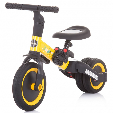 Tricicleta si Bicicleta 2 in 1 Smarty Chipolino Yellow [4]