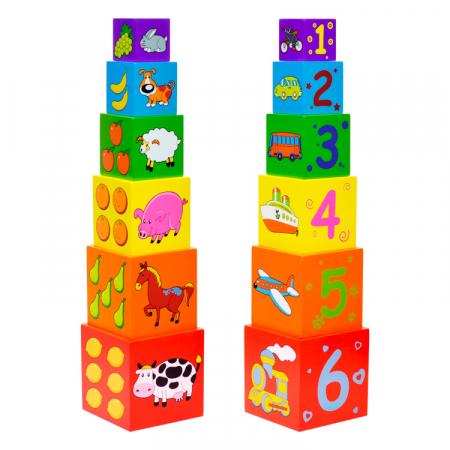 Turn de cuburi Turnul Babel, Viga Toys [0]