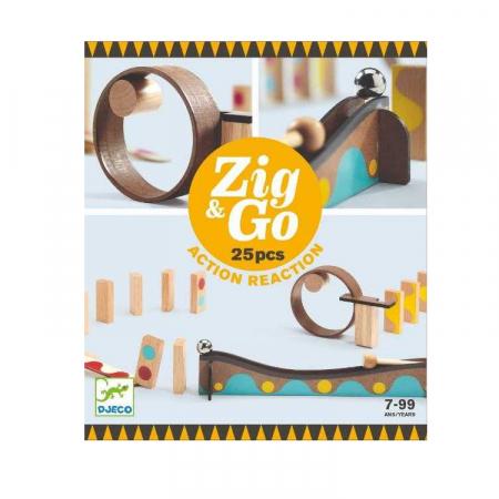 Zig & Go Djeco, set de constructie trasee, 25 piese [0]