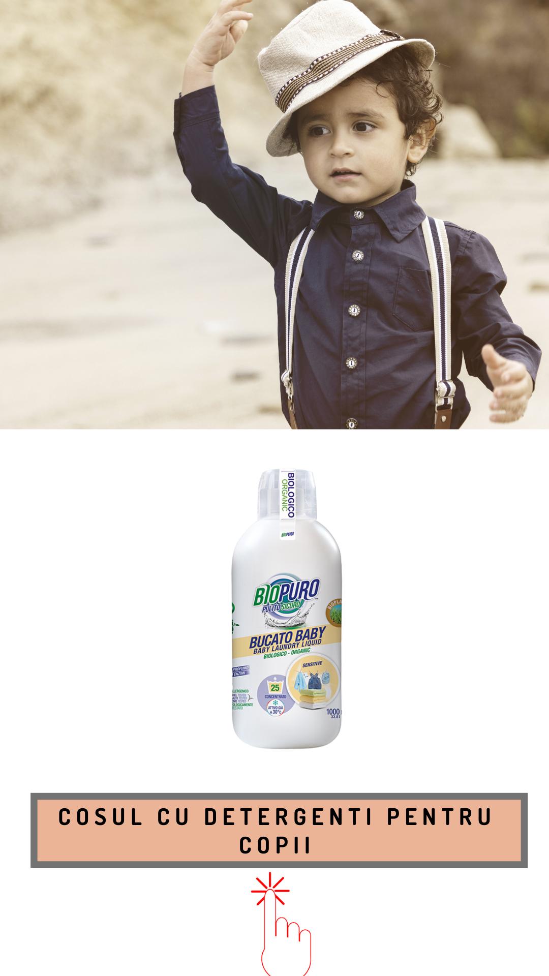 Cosul cu detergenti pentru copii
