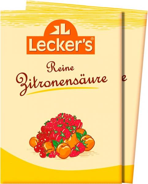 Acid citric pur, 2x10 g Lecker's [0]