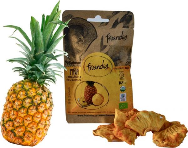 Ananas deshidratat bio, 30g Juan Valdez [1]