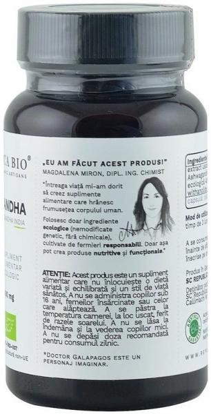 Ashwagandha bio din India (400 mg) - extract 5%, 60 capsule (29,7 g) [3]