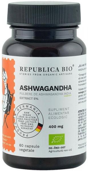 Ashwagandha bio din India (400 mg) - extract 5%, 60 capsule (29,7 g) [0]