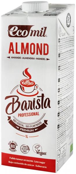 Barista, bautura vegetala bio de migdale pentru cafea, 1L Ecomil [0]