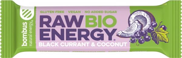 Baton energizant bio, Raw Energy, cu coacaze negre si nuca de cocos 50g Bombus [0]