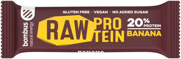 Baton Proteic Cu Banane, 20% Proteine, 50G Bombus [0]