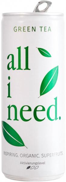 Bautura bio cu ceai verde si superfructe, 250ml ALL I NEED [0]