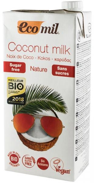 Bautura vegetala Bio de cocos, fara zahar, 1L Ecomil [1]