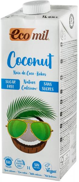 bautura vegetala bio de cocos natur cu calciu, 1L Ecomil [0]
