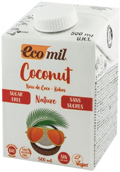 Bautura vegetala bio de cocos, natur, fara zahar, 500 ml Ecomil [0]
