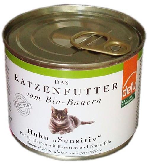 BIO Hrana pentru pisici - Pate cu Pui - 200 g Defu [0]