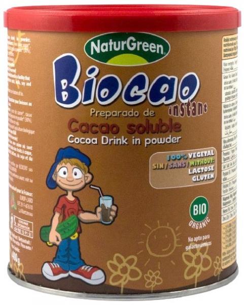 Biocao, pudra BIO de cacao instant, 400g NATUR GREEN [0]