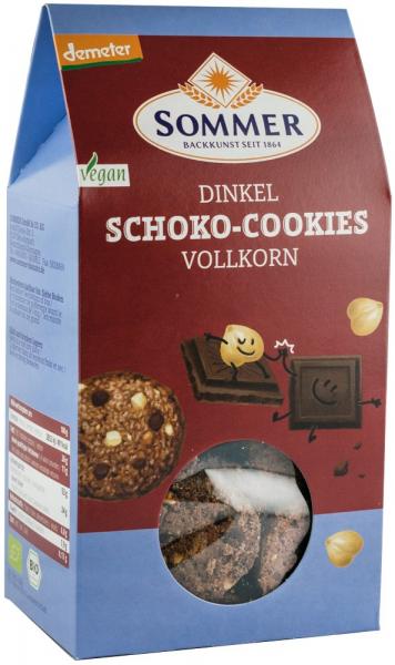 Biscuiti bio din faina de grau spelta cu ciocolata amaruie si alune, Demeter, 150 g SOMMER [0]