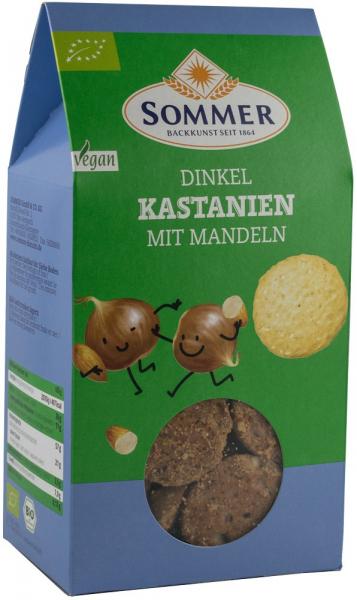 Biscuiti bio din grau spelta cu migdale si castane, 150 g SOMMER [0]