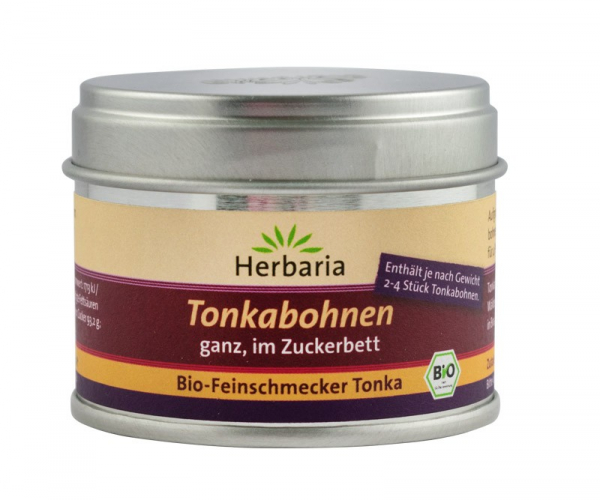 Boabe Tonka BIO in zahar brun, 50 g Herbaria [0]
