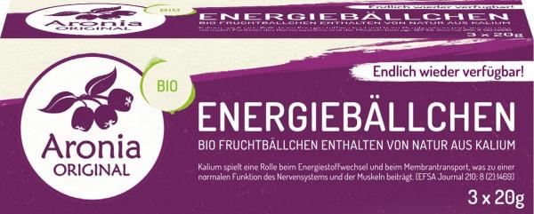 Bombite energetice bio cu Aronia, 60 g (3X20g) Aronia Original [1]
