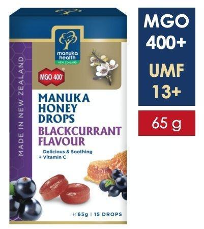 Bomboane miere Manuka MGO 400+ UMF 13+ (65g) : coacaze + vitamina C [0]
