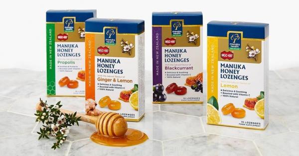 Bomboane miere Manuka MGO 400+ UMF 13+ (65g): lamaie + vitamina C [3]