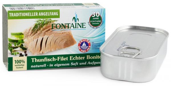 Bonito File de ton, in suc propriu, 120g Fontaine [0]