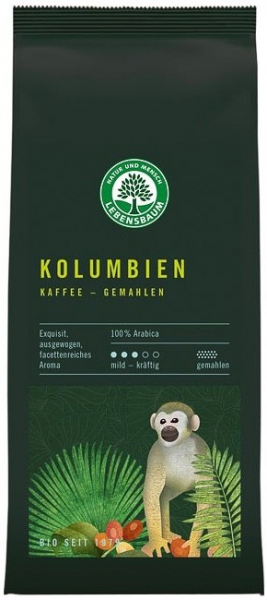 Cafea bio macinata Columbiana - 100 % Arabica, 250 g LEBENSBAUM [0]