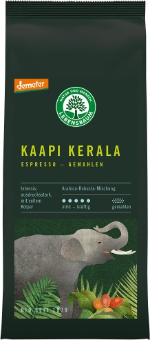 Cafea macinata expresso Kaapi Kerala BIO - Selectie Arabica si Robusta, 250g LEBENSBAUM [0]