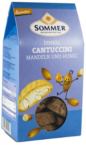 Cantuccini bio crocant din grau spelta cu migdale si miere, Demeter 150 g SOMMER [0]